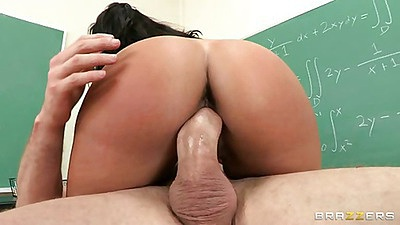Mariah sitting on her professors cock on his desk