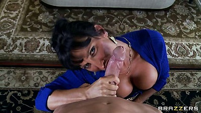 Big tits milf Lezley Zen going down for wet and juicy pov blowjob