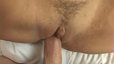 Closeup trimmed pussy on Mia Bangg and her big tits out in the open