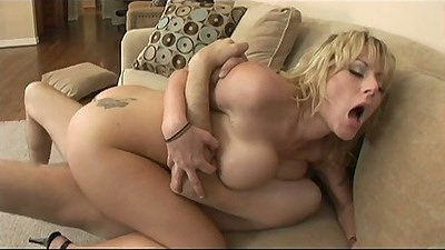 Big tits blonde Velicity Von riding cock and ass to mouth rough anal