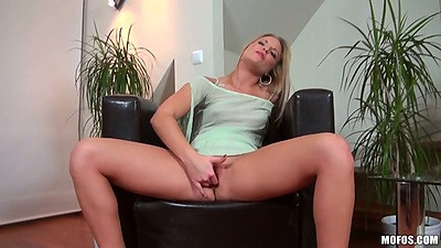 Solo object masturbation with cute euro chick Betta