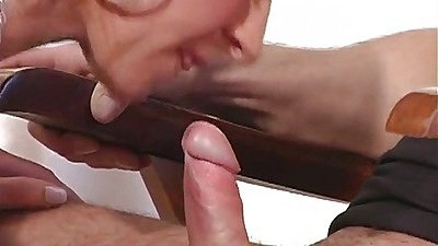 Blowjob from milf Rita Black and cowgirl close up