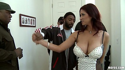 Big tits milf Tiffany Mynx dresses up like a maid and sucks it
