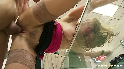 Office sex with milf Shayla Leveaux getting all flexible