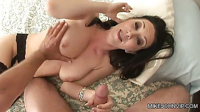 Handjob and blowjob with pov front sex penetration on RayVeness