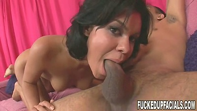 Deep throat from petite chick Ruby Knox and round ass cowgirl