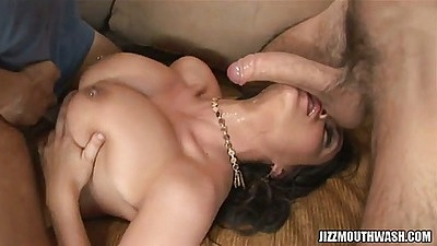 Charley Chase titty fucking and bending over to lick under cock in roup