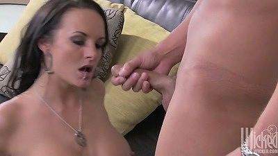 Blowjob and fingering with milf Alektra Blue and front and rear doggy style