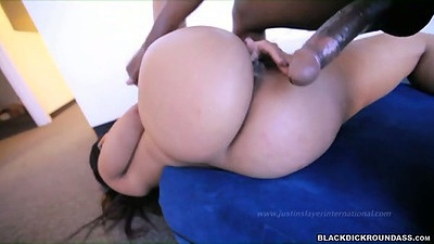Sideways fucking perfect round ebony ass Tamara Styles with big dick