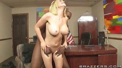 Hot bodied naughty school girl fucked sideways on desk
