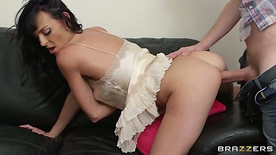 Doggy style penetration with petite milf Lena Franks