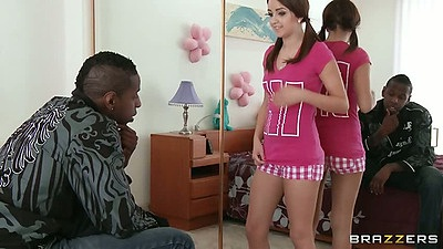 18 year old teen Pressley Carter comes in for black cock sex action