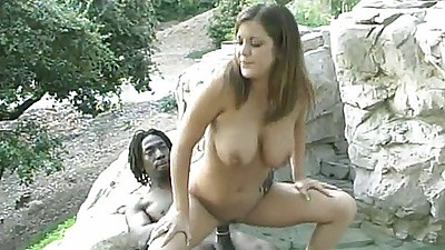 Cheyanne sits on big black cock in reverse cowgirl fucking with ejaculation on mouth