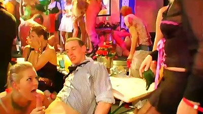 Blowjob and kissing at club party sex for Brooke and Rachel Evans