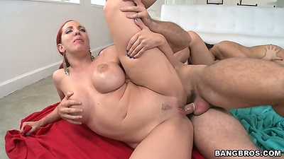 Sideways fuck while Ashli Orion and Kelly Divine enjoy Gabbi Vega