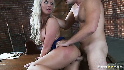 Doggy style milf sex with Phoenix Marie and thrown on table