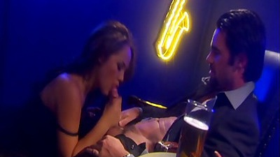 Blowjob with Kristina Rose after having a beer and fuck