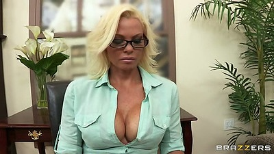 Office milf time with blonde Rhylee Richards