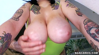 Big tits Christine Rhydes showing those huge melons