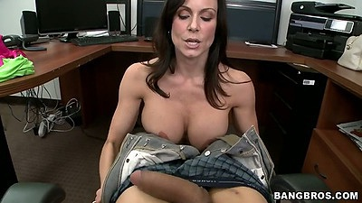 Pov handjob and titty fuck blowjob from Kendra Lust in office