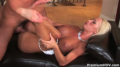 Front penetration with busty Lichelle Marie spreading it on the love seat