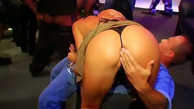 Nice ass at a party on the floor kissing an making out