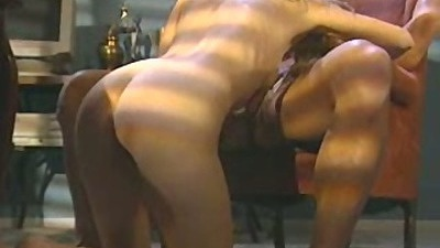 Alana Evans kneels showing her ass crack and blowjob with sex on dick