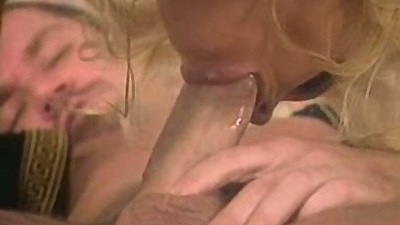 Blowjob with Bridgette Kerkove with shoving fingers in her mouth
