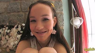 Cute petite teen Amai Liu asian and cute