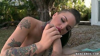 Handjob and blowjob with pov Christy Mack