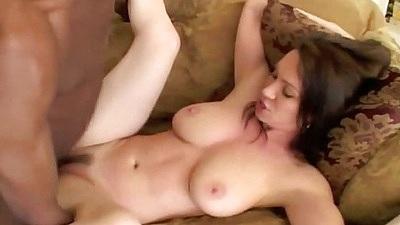 Busty cutie RayVeness enjoying front deep cock penetration