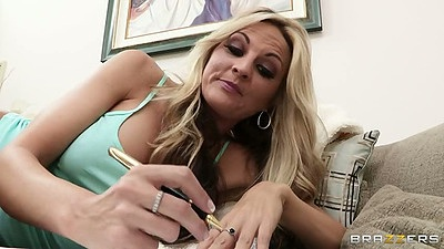 Big tits milf Sindy Lange spreading her pussy
