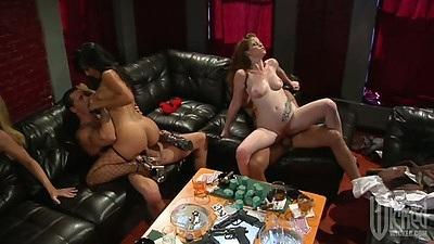 Gianna Lynn and Alexa Jordan and Lexi Lamour in group orgy fuck