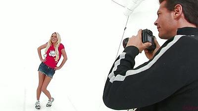 Miniskirt photo shoot with Riley Evans