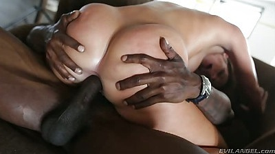 Cowgirl interracial anal cock sitting with Jada Stevens