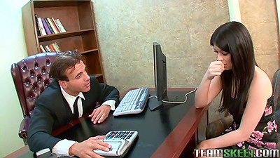 Teen Ashlyn Rae in the office abused for punishment