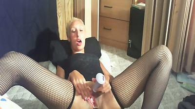 Home video with amateur HotnSweet spreading legs with butt plug