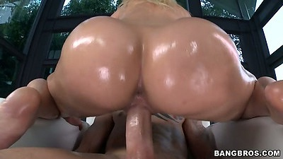Cowgirl oil sex with Anikka Albrite riding it hard