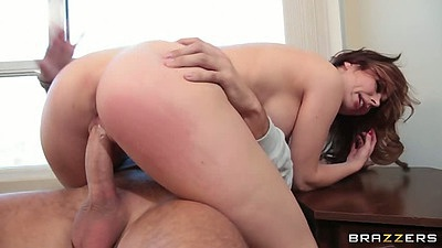 Cowgirl sex with big tits Veronica Vice and sideways on the floor