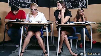 Classroom lesbians Cameron Canada and Celeste Star