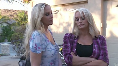 Stormy Daniels and Julia Ann outdoors lesbians