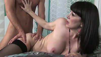 Rear entry busty milf Rayveness penetration hard fuck