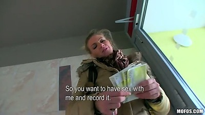 Sexy adele amateur picked up in public for cash and sexual favours