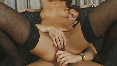 Rebeca White reverse cowgirl sex in stockings