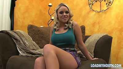 Blonde big tits Alexis Monroe solo interview