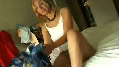 latina gf taking off her clothe for pov blowjob suck