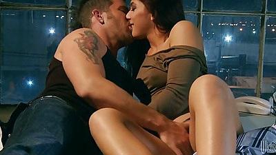 Kissing and fingering Mischa Brooks slowly undressing
