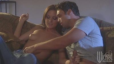 Scarlett Fay gets guy go down her pants