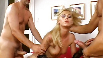 Slut gets fucked and sits on cock with medium tits