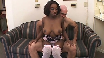 Audre James ebony reverse cowgirl and blowjob suck